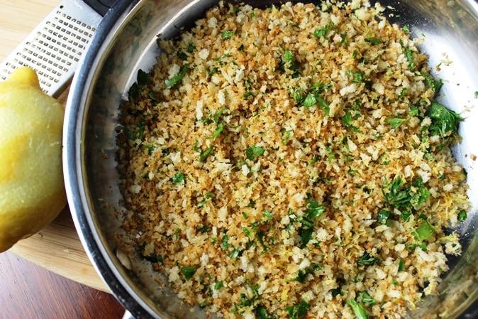 Panko crumbs with lemon and parsley