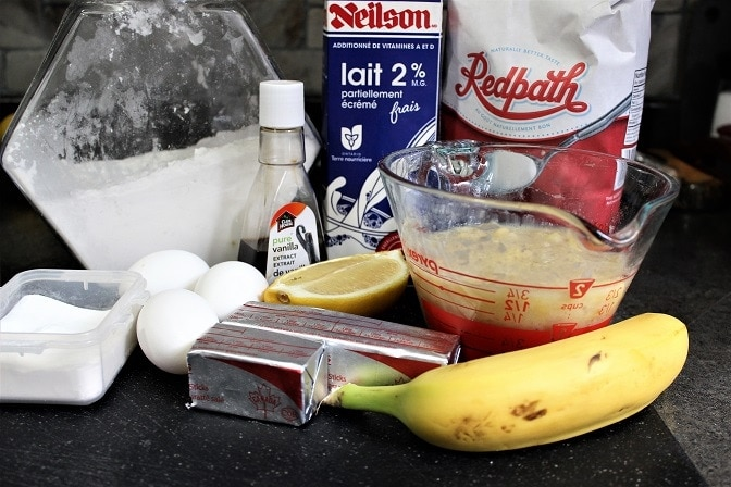 banana cake ingredients