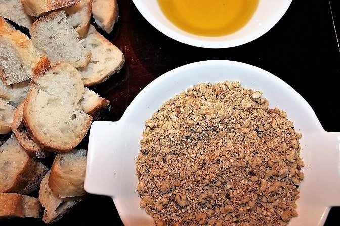 Homemade Dukkah Appetizer