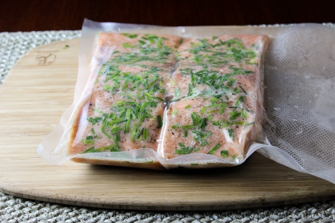 Sous Vide Salmon with Lemon Caper Sauce