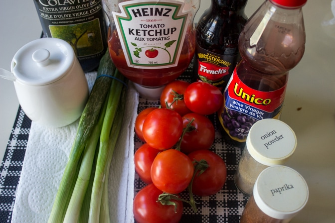 Tomato Salad with Homemade Catalina Dressing Ingredients