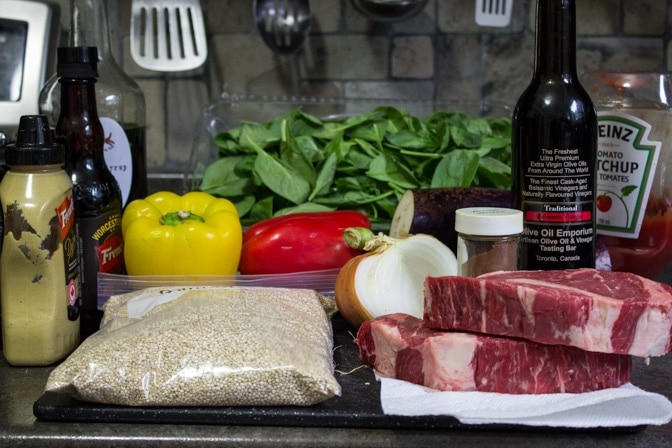 Sous Vide Steak with Balsamic Sauce 2 Ways ingredients
