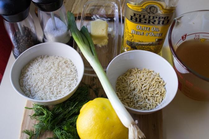 Lemon Dill Rice-Orzo ingredients