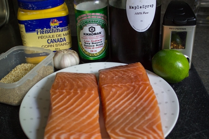 Easy Maple Lime Salmon ingredients