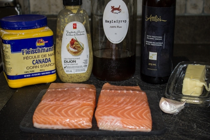 Canadian Maple Planked Salmon ingredients