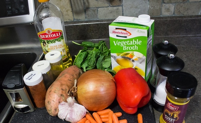 Curried Sweet Potato and Vegetable Soup