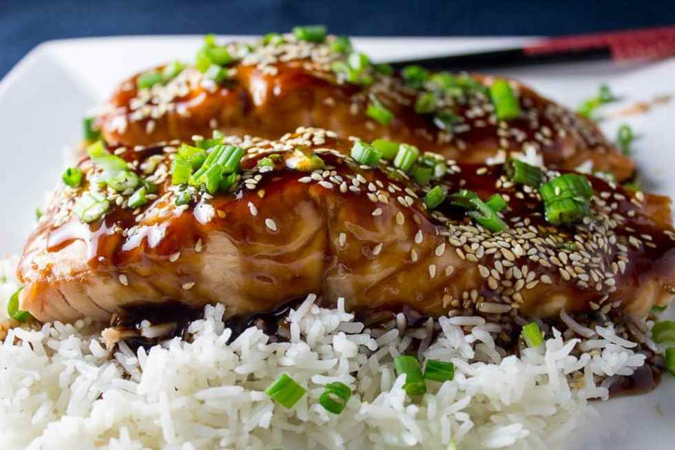 Teriyaki Salmon with its sweet sticky garlicky sauce is a simple weeknight or company meal. Sous vide, grill or roast the salmon.