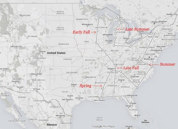 2016 Travel Map