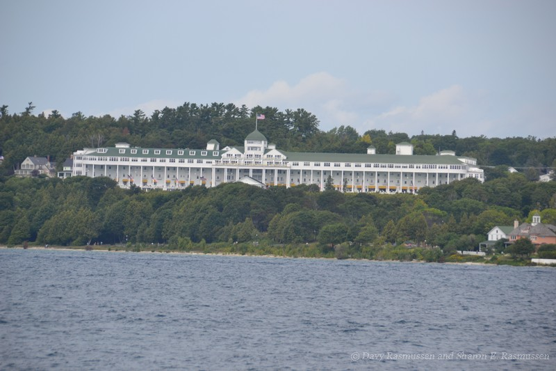 The Grand Hotel view from Lake Huron.