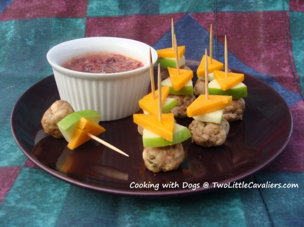 Turkey Meatballs with Cranberry Mustard Dipping Sauce