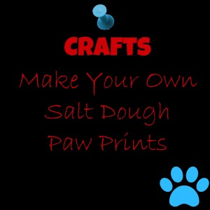 Crafts Salt Dough Paw Prints