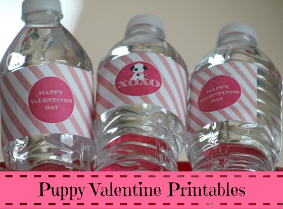 Puppy Valentine Printables For Parties or Home Use