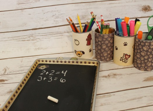 Directions to create your own School Supply Organizer
