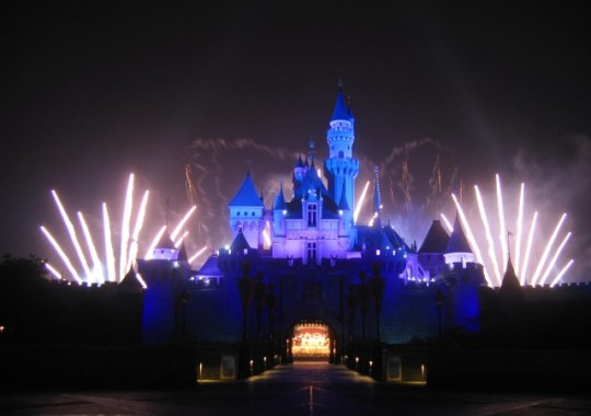 Fireworks at Hong Kong Disney