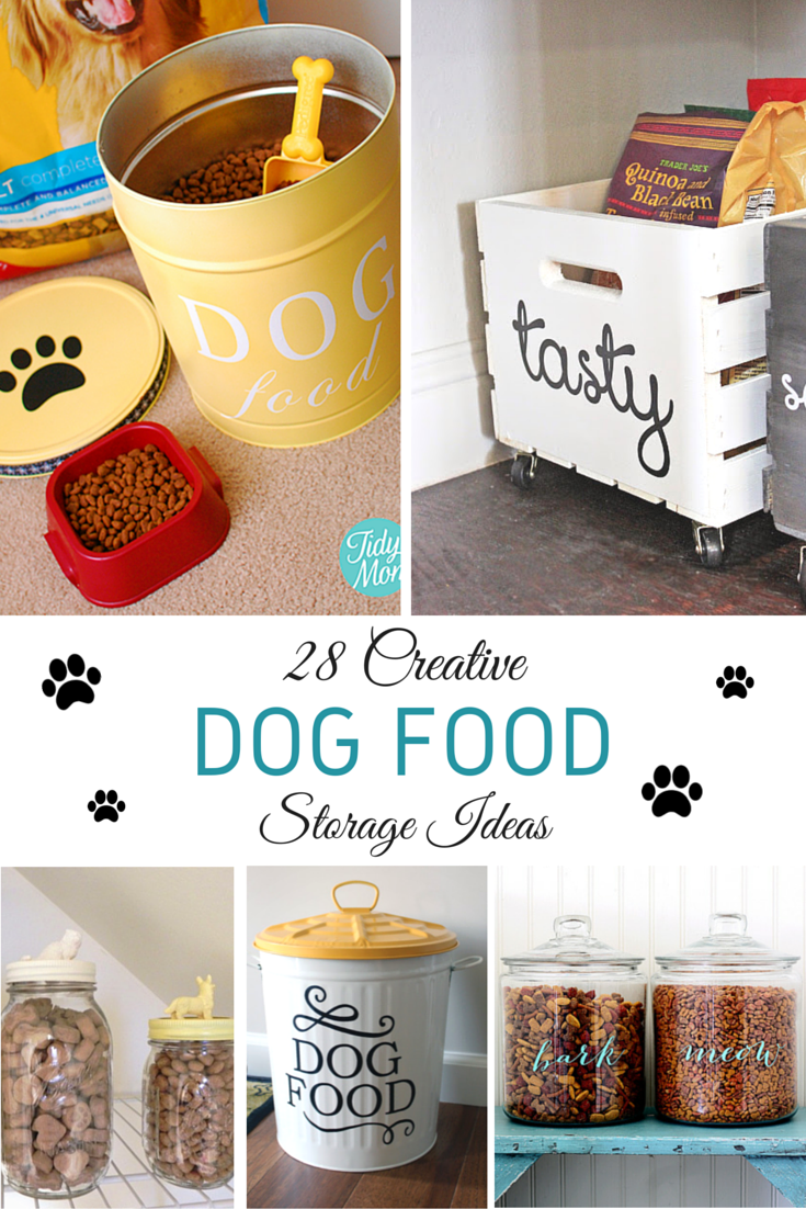 28 creative dog food storage ideas - two little cavaliers