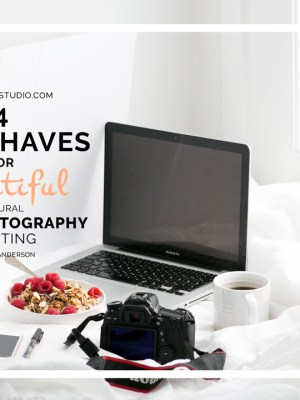 4 Must Haves For Beautiful Natural Food Photography Lighting with Jo Anderson
