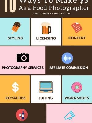 Top Ten Ways To Make Money As A Food Photographer