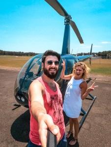 para przed lotem helikopterem