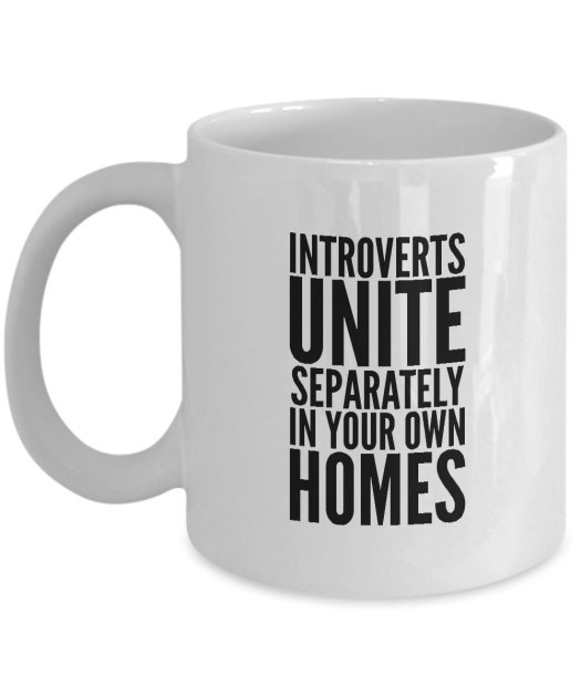 Funny Photo of Introverts Unite Separately In Your Own Homes