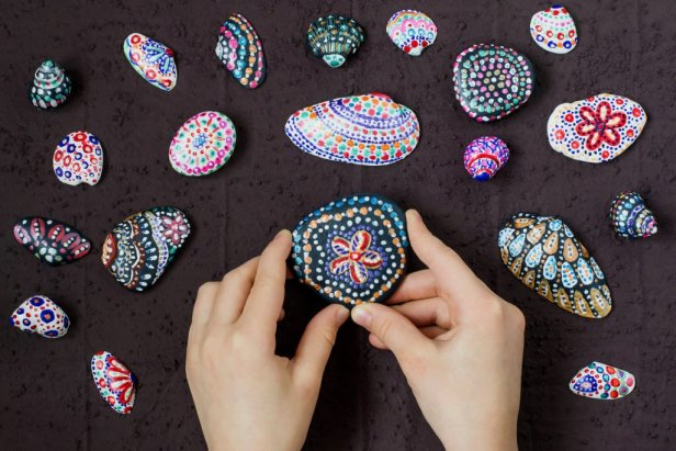 Photo of Painted Stones and Shells