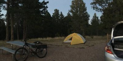 Photo: Camping at Keyhole State Park in Wyoming
