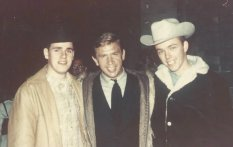 Robert's father, Jay Witham, and uncle, John Ehrlich, with Buck Owens