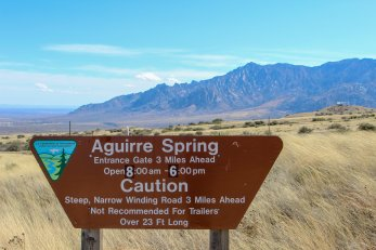 Photo: Aguirre Spring Campground sign