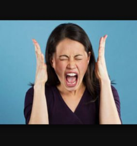 photo of screaming woman