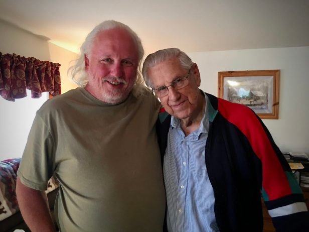Photo: Robert with his grandfather, Dusty Cal Witham