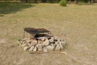Photo: A fire ring at Dogcamp