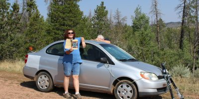 Photo: Debra and Robert in Medicine Bow National Forest