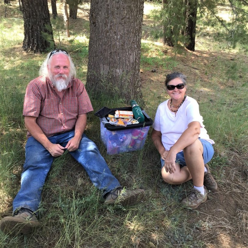 Photo of Debra and Robert on a Picnic