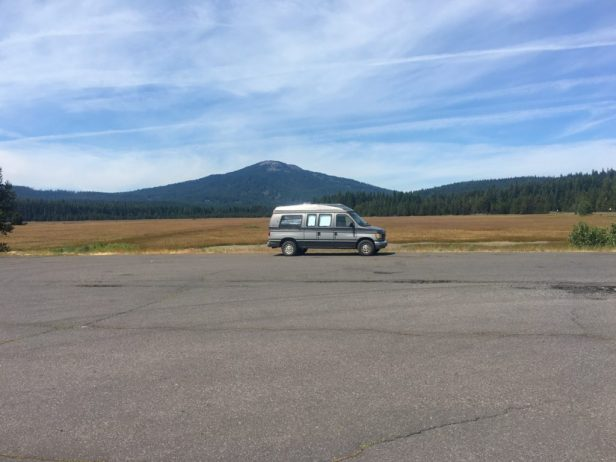 Photo: Parked at Great Meadow Sno Park