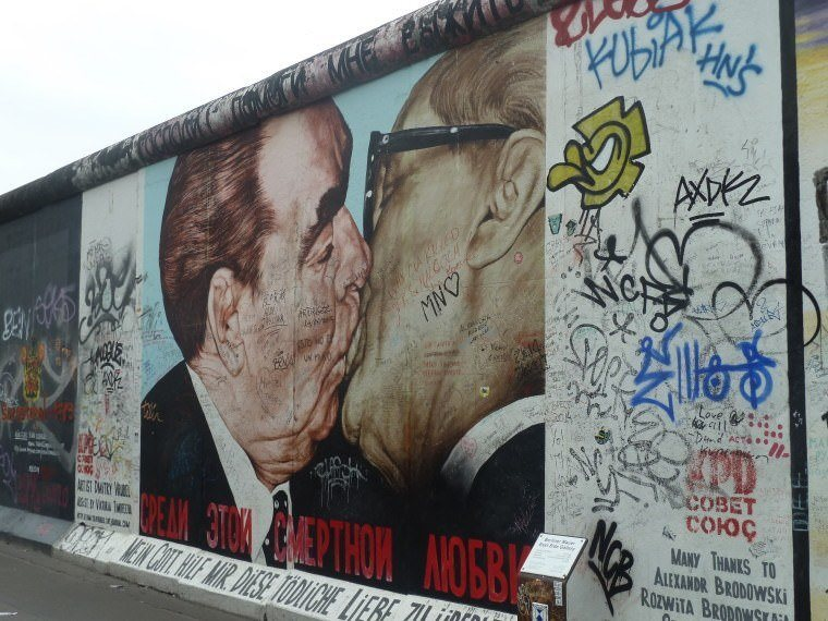 A part of the East Side Gallery (or the Freedom Wall) in Berlin, Germany