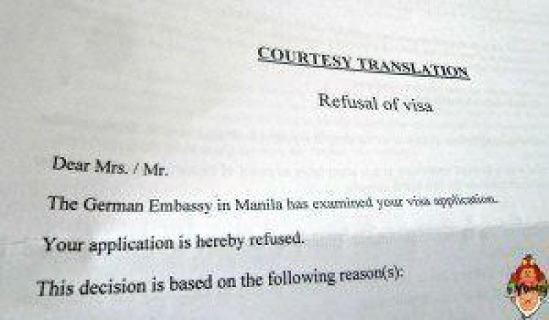 """""""Your application is hereby refused."""" I wish that every Schengen Visa applicant will not see this line."""