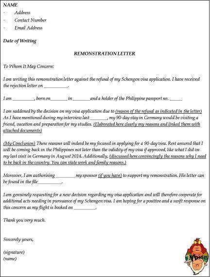 rejected german visa my remonstrance