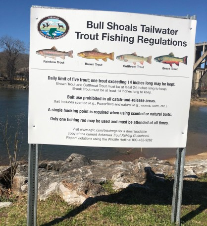 trout regs white river