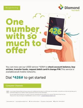 Diamond bank ussd code *426#