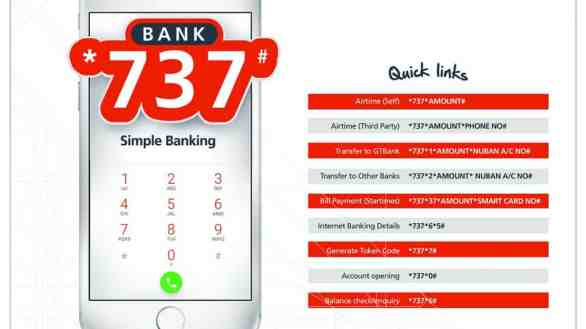 Gtbank *737# code mobile banking ussd