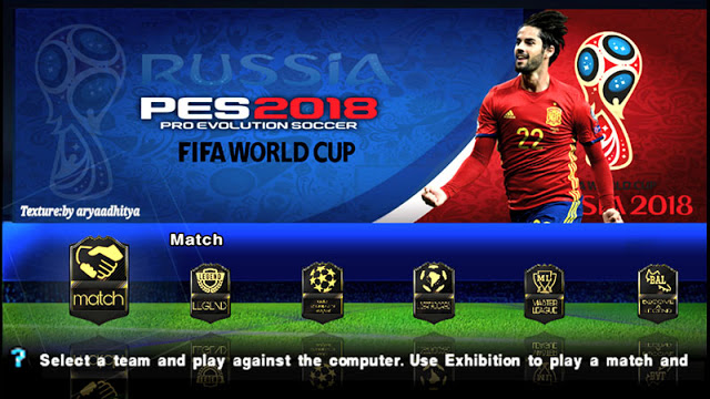 Download PES 2018 ISO File PSP FIFA World Cup Version for Android
