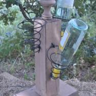 wine bottle caddy, shabby chic, rustic