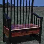 Crib repurpose, cedar bench