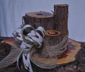 rustic Cedar Centerpiece candleholder rustic country