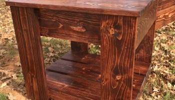 hidden gun storage end table