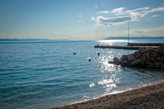 Our apartment rental in Croatia: View of the Dock on the Adriatic