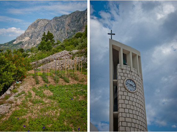 Our apartment rental in Croatia: Biokovo Mountains and Drasnice Church Tower