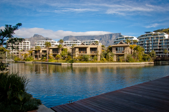 Our Unit: On The Four Floor Of The Lawhill B Building At The Far Right;  Table Mountain Behind.