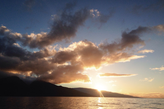 Sunrise on the Sea: Sailing from Maui to Lana'i