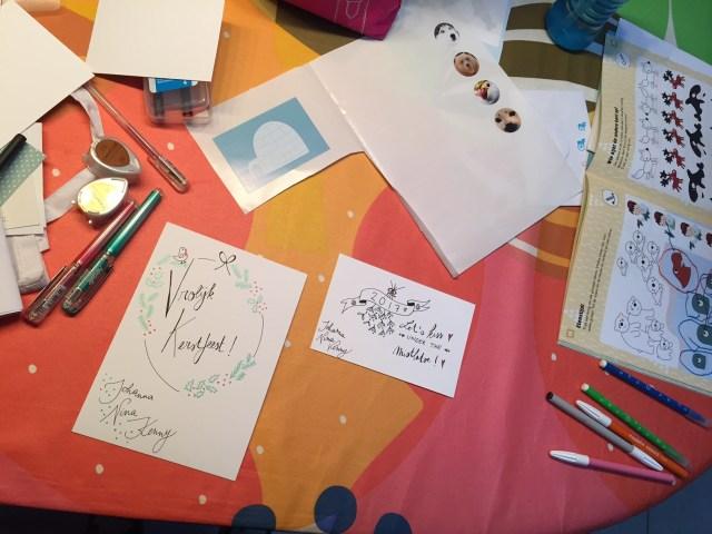 kerstkaartjes Femma-workshop: Handlettering met Mino Papersweets