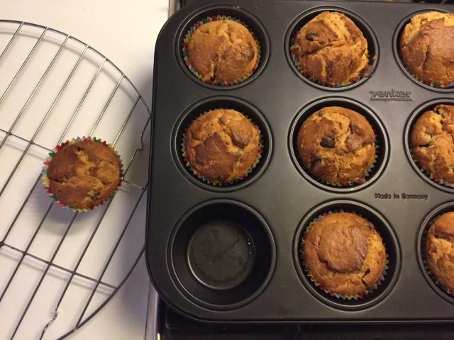 pindakaas-banaan-muffins-klaar Pindakaas Banaan Muffins